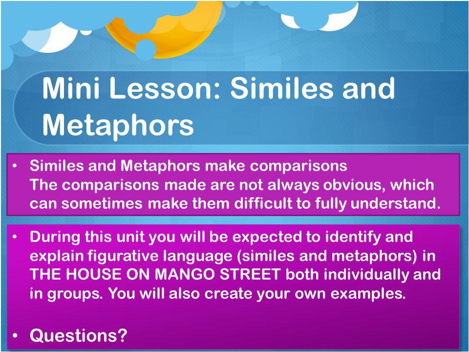 Mini Lesson: Similes and Metaphors