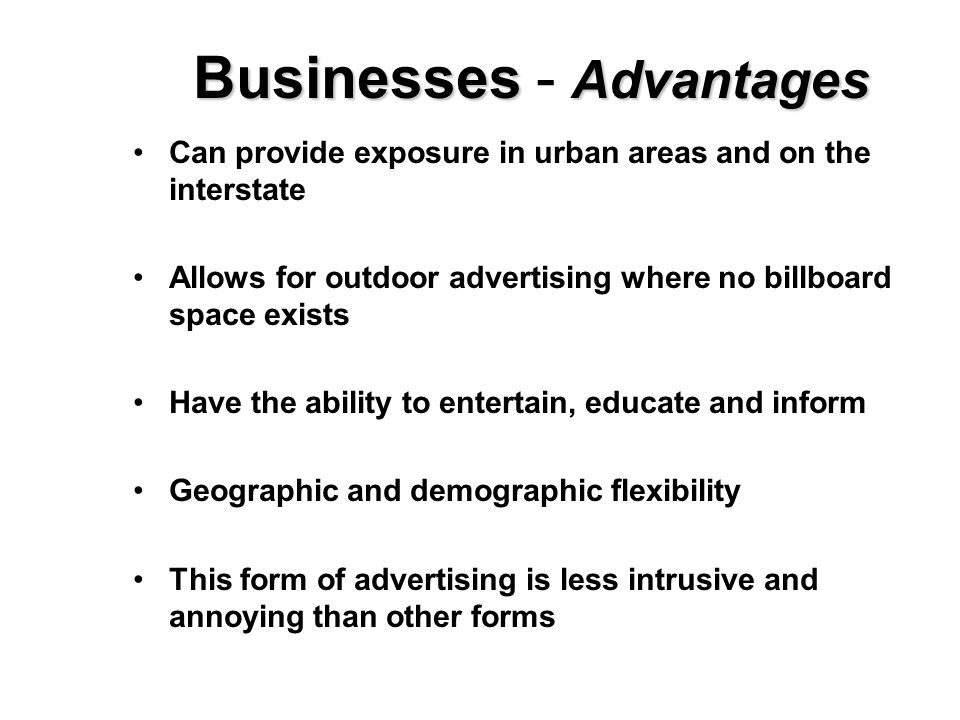 the advantages of the internet to advertisers and business people Ubiquitous internet connectivity and devices present organizations the internet of things (iot) 1 people, organizations.