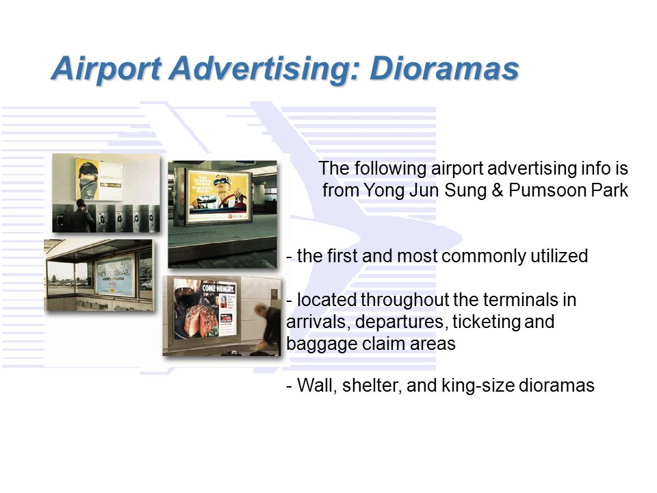 Airport Advertising: Dioramas