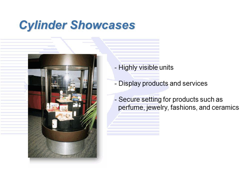 Cylinder Showcases - Highly visible units