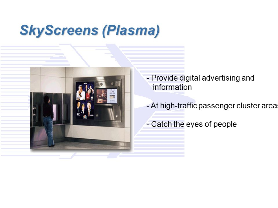 SkyScreens (Plasma) - Provide digital advertising and information