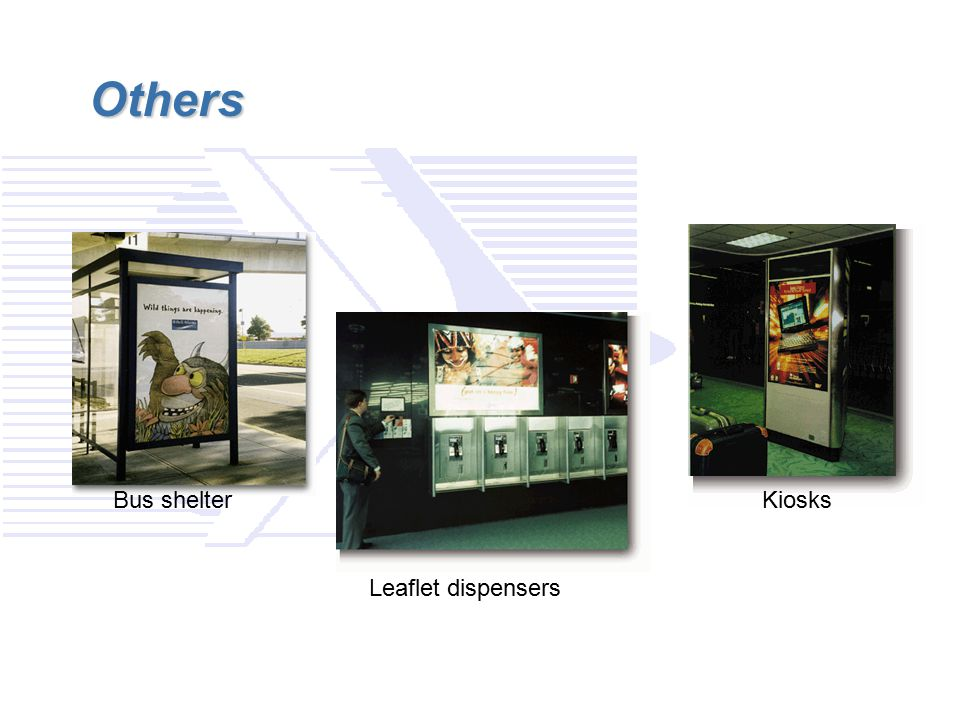 Others Bus shelter Kiosks Leaflet dispensers