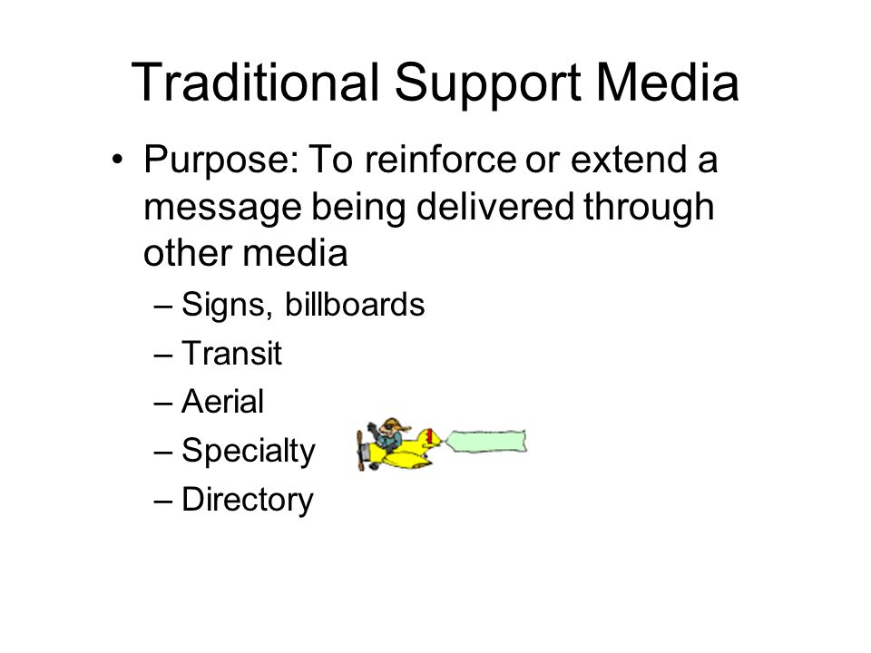 Traditional Support Media