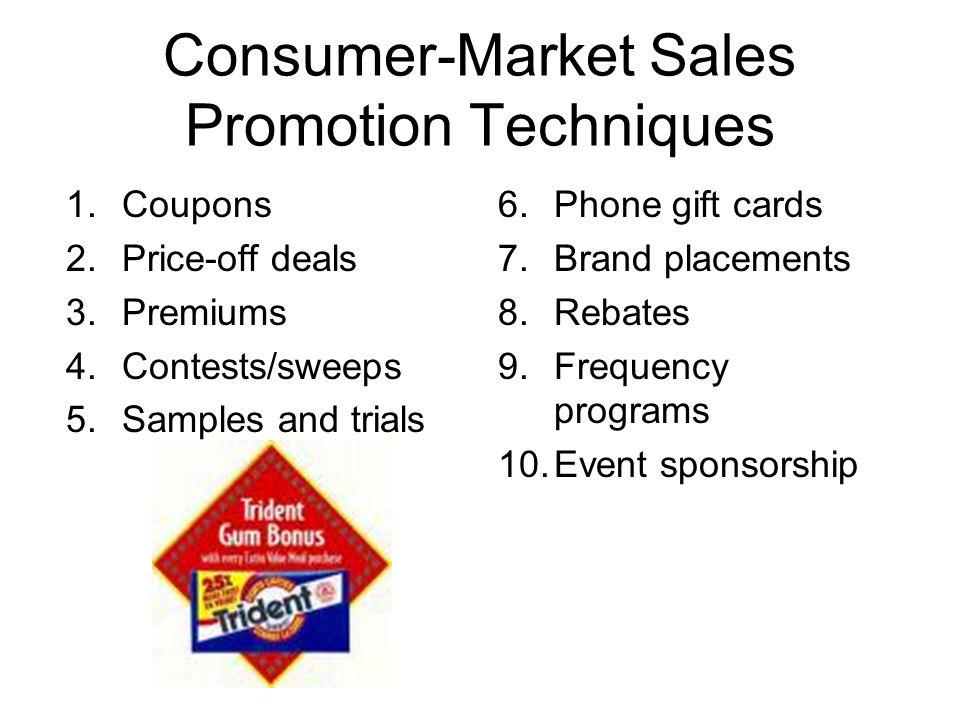 Consumer-Market Sales Promotion Techniques