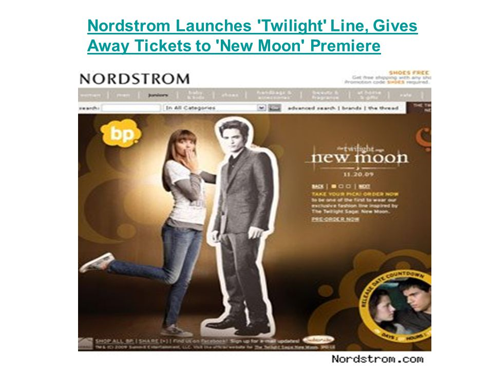 Nordstrom Launches Twilight Line, Gives Away Tickets to New Moon Premiere