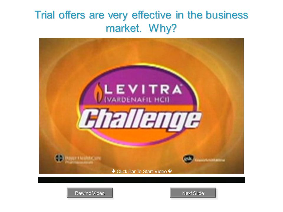 Trial offers are very effective in the business market. Why