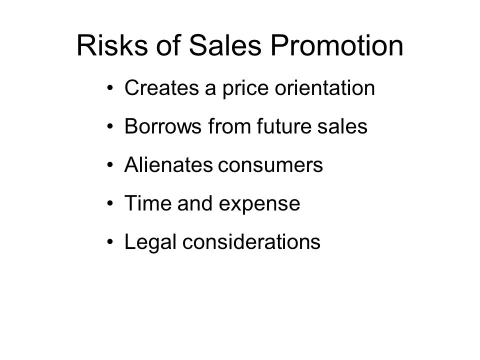Risks of Sales Promotion
