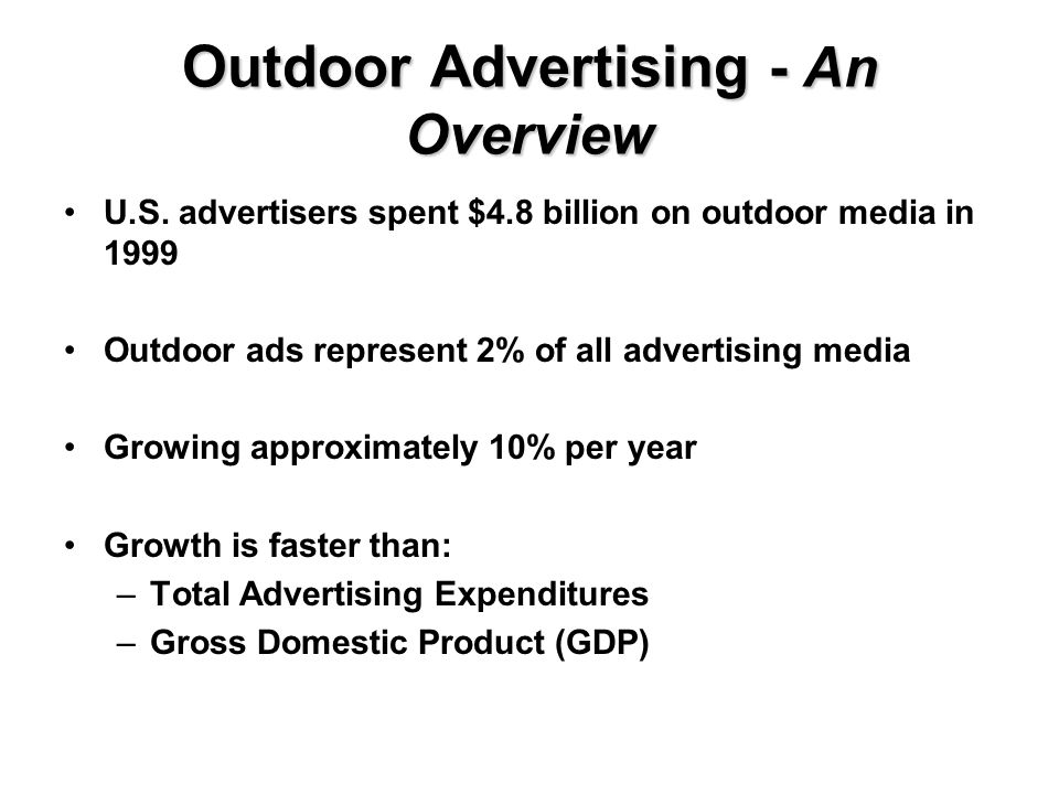 Outdoor Advertising - An Overview