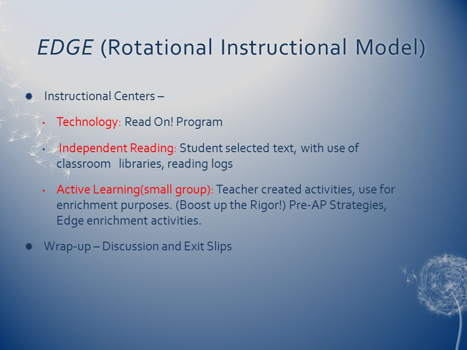EDGE (Rotational Instructional Model)