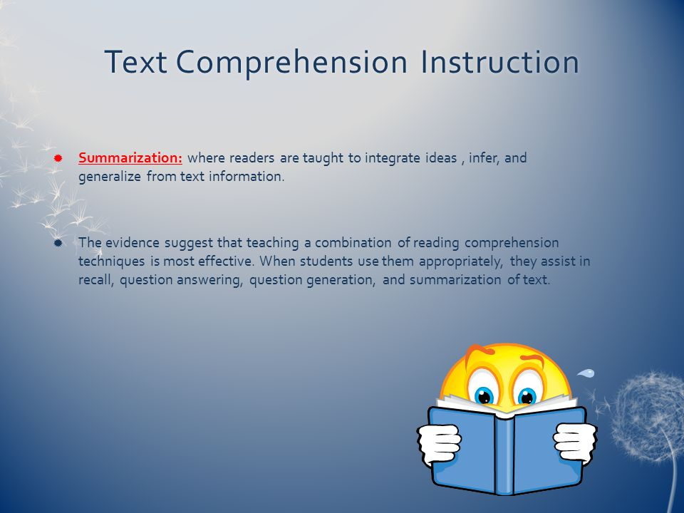 Text Comprehension Instruction