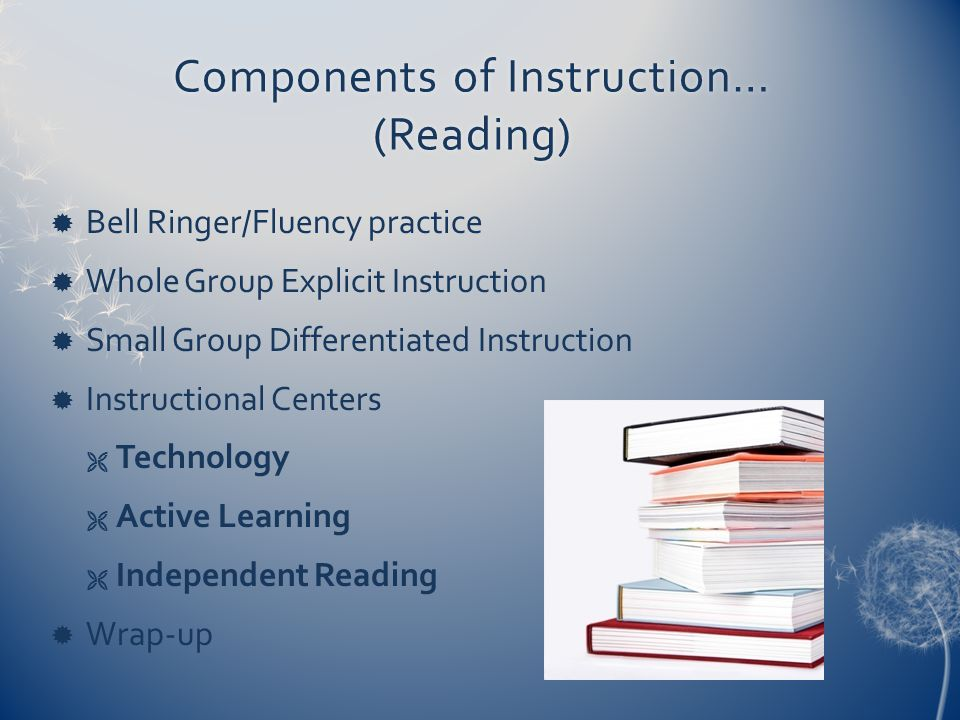 Components of Instruction… (Reading)