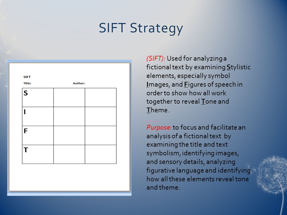 SIFT Strategy