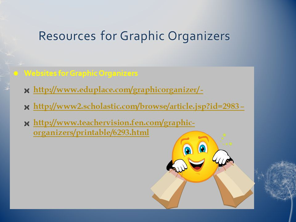 Resources for Graphic Organizers