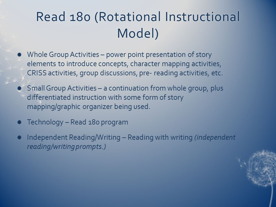 Read 180 (Rotational Instructional Model)