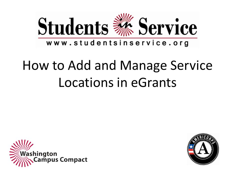 How to Add and Manage Service Locations in eGrants