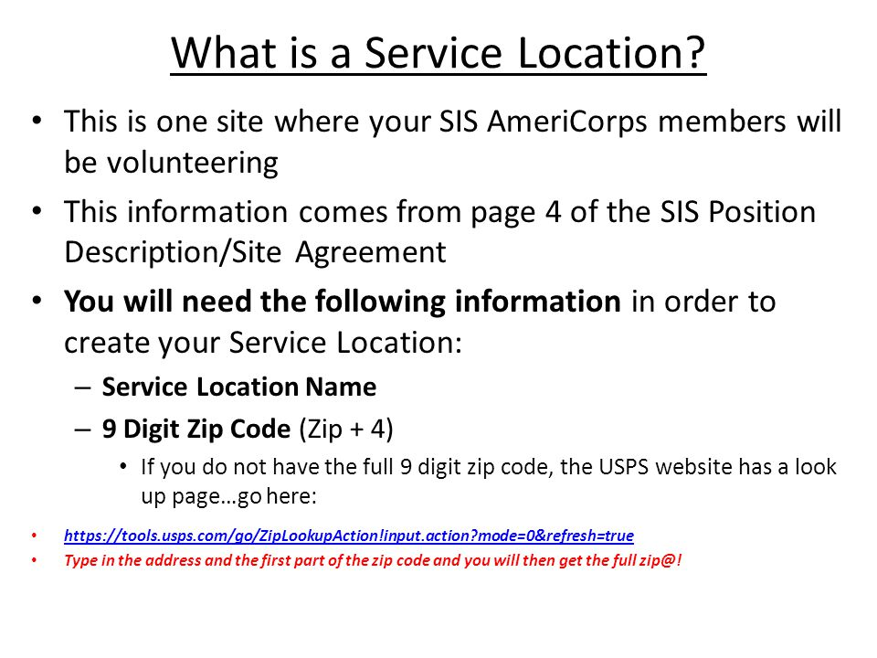 What is a Service Location