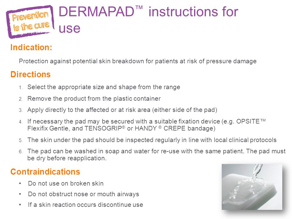 DERMAPAD™ instructions for use
