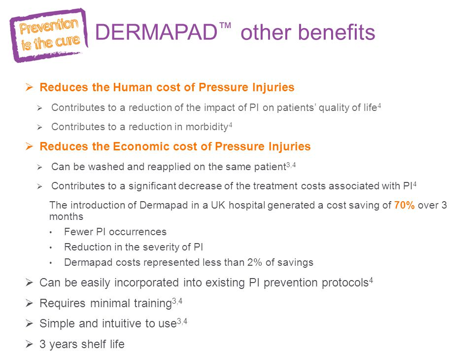 DERMAPAD™ other benefits
