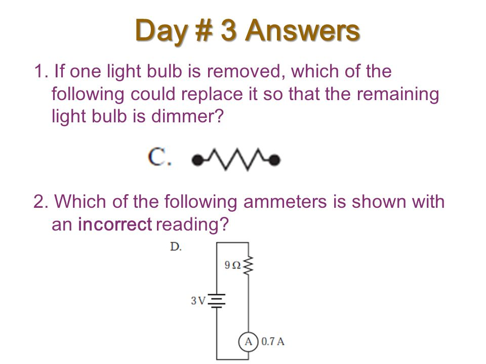 Day # 3 Answers