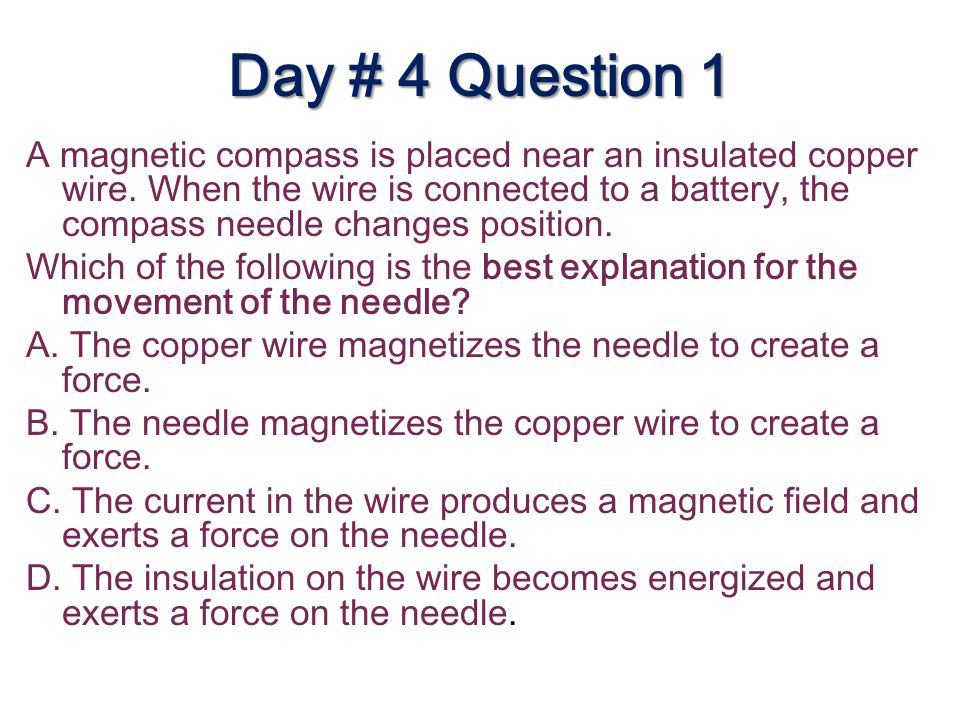 Day # 4 Question 1