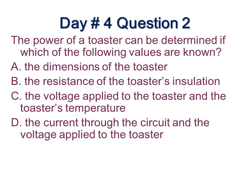 Day # 4 Question 2
