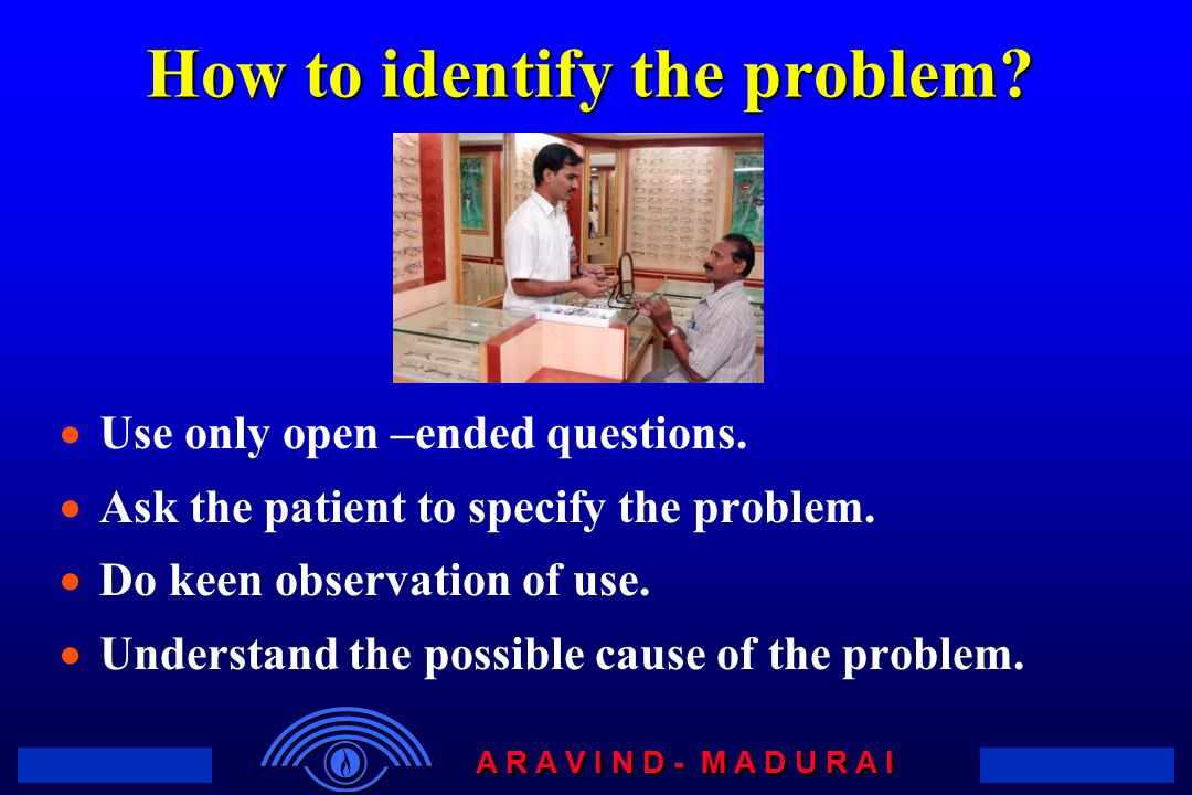 How to identify the problem