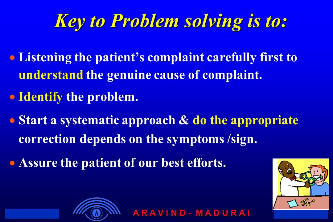 Key to Problem solving is to: