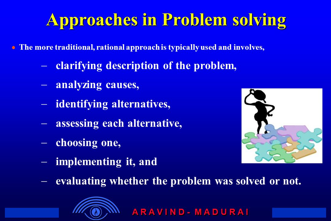 Approaches in Problem solving