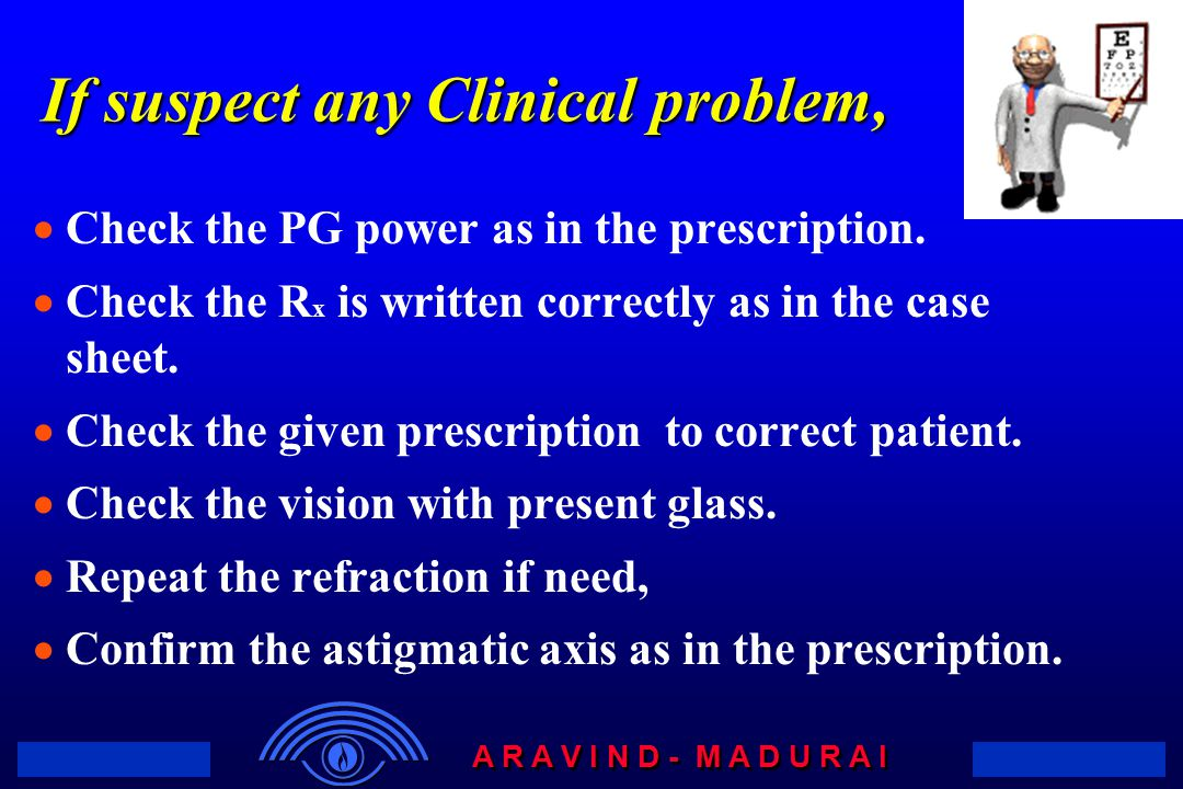 If suspect any Clinical problem,