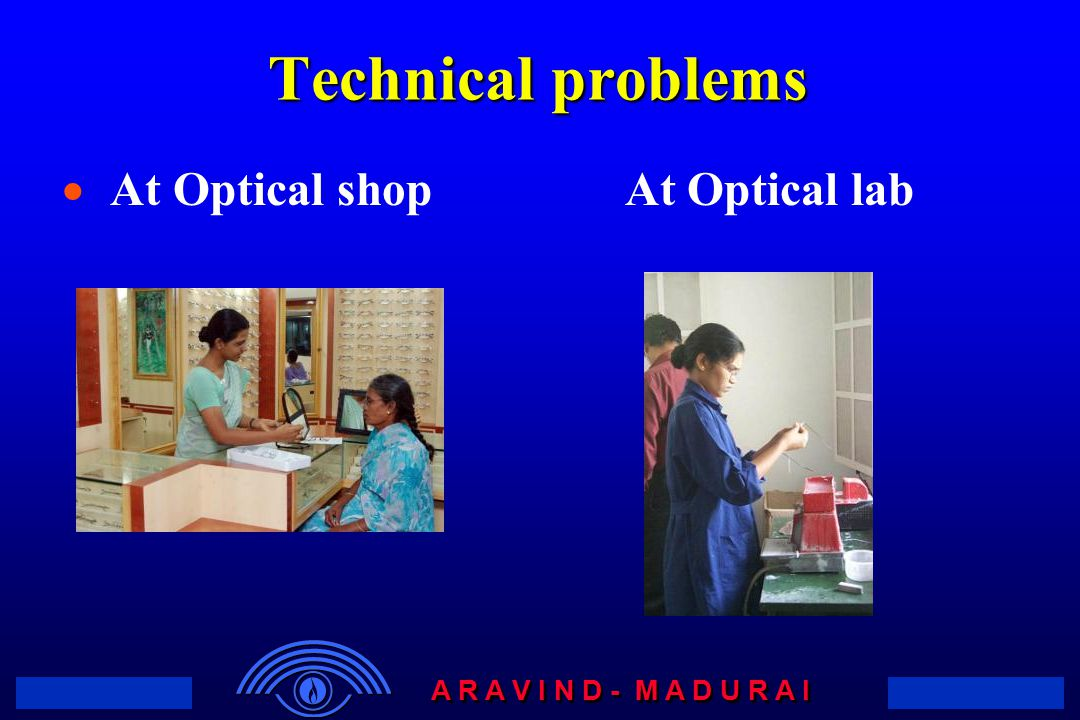 Technical problems At Optical shop At Optical lab