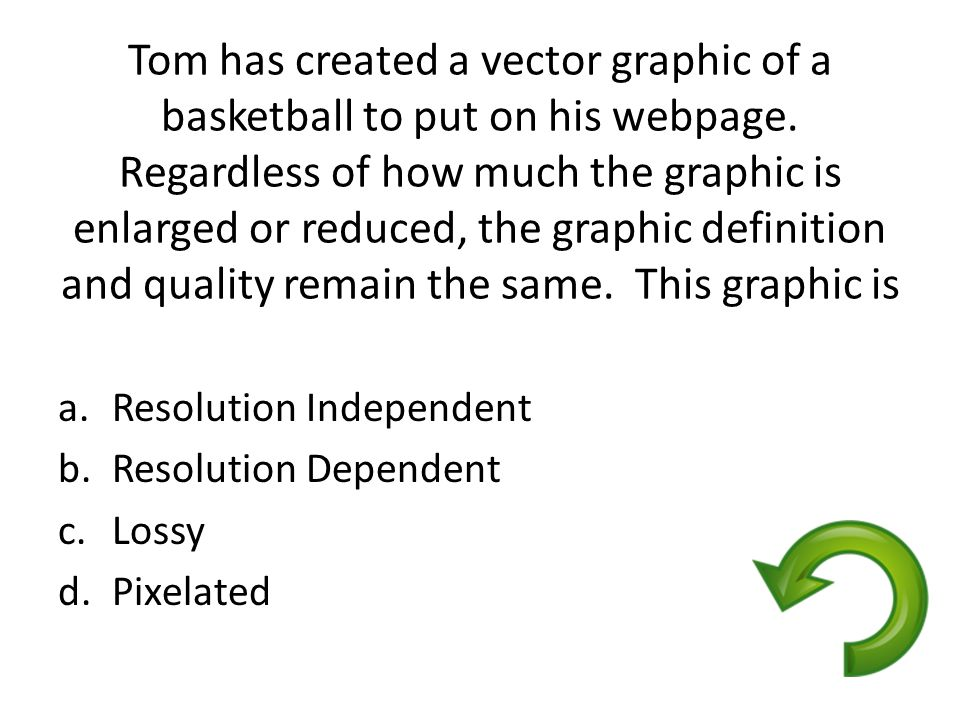 Tom has created a vector graphic of a basketball to put on his webpage