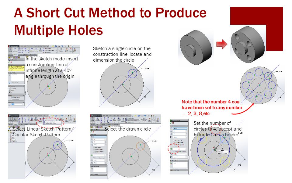 A Short Cut Method to Produce Multiple Holes