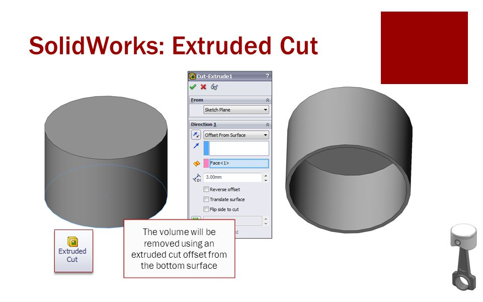 SolidWorks: Extruded Cut