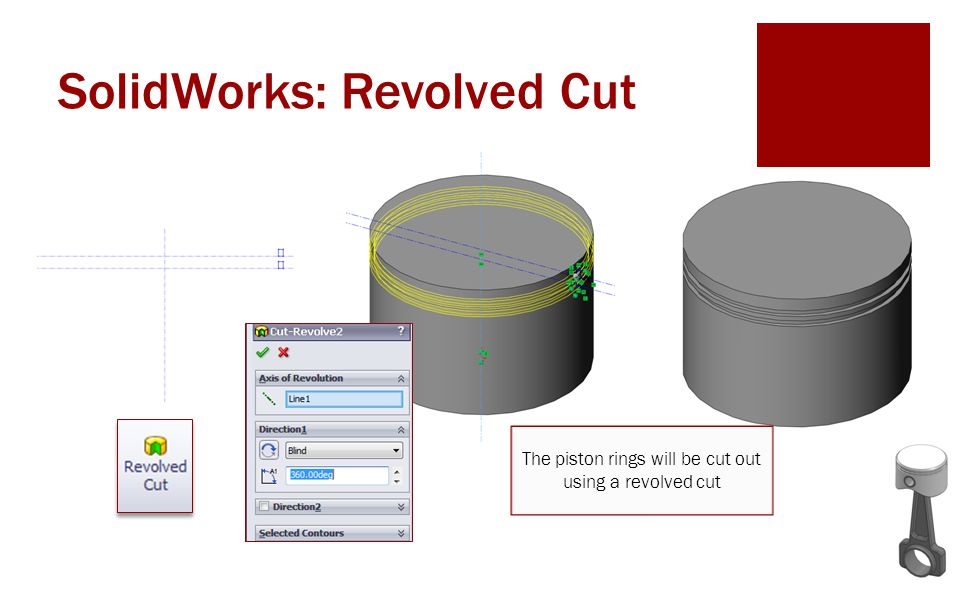 SolidWorks: Revolved Cut