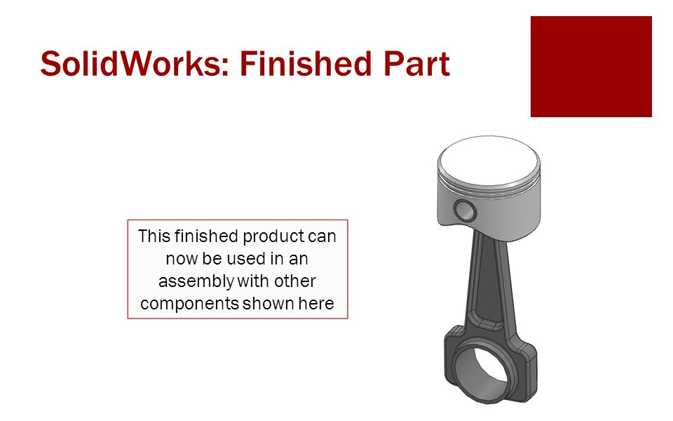SolidWorks: Finished Part