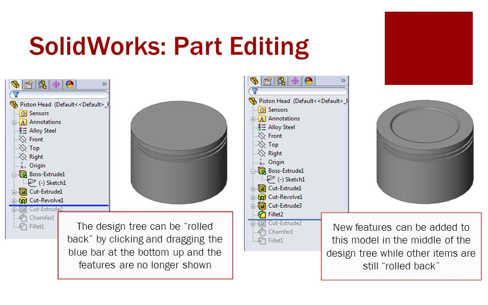 SolidWorks: Part Editing