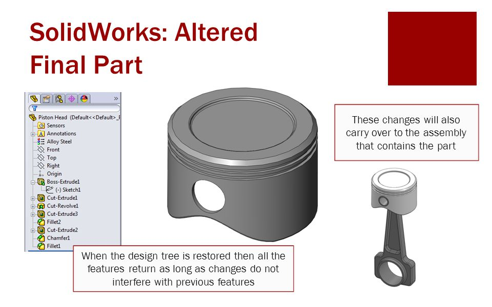 SolidWorks: Altered Final Part