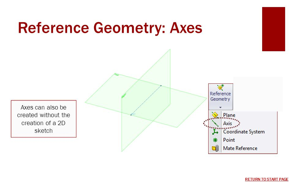 Reference Geometry: Axes