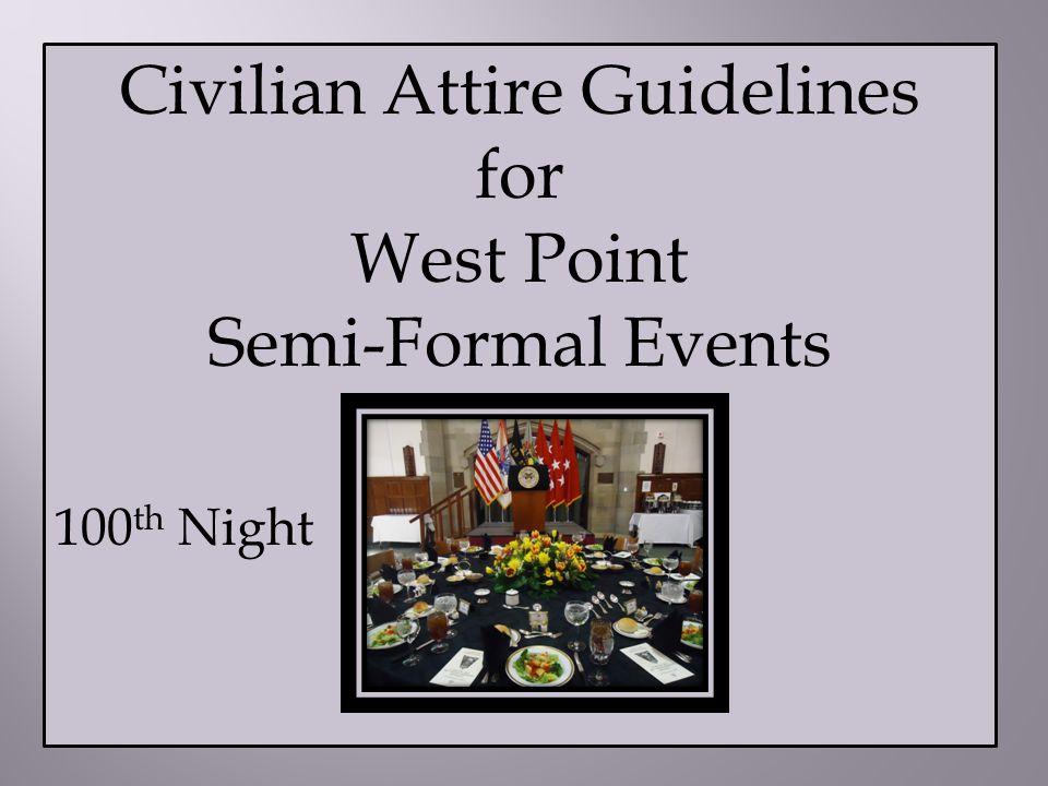 Civilian Attire Guidelines