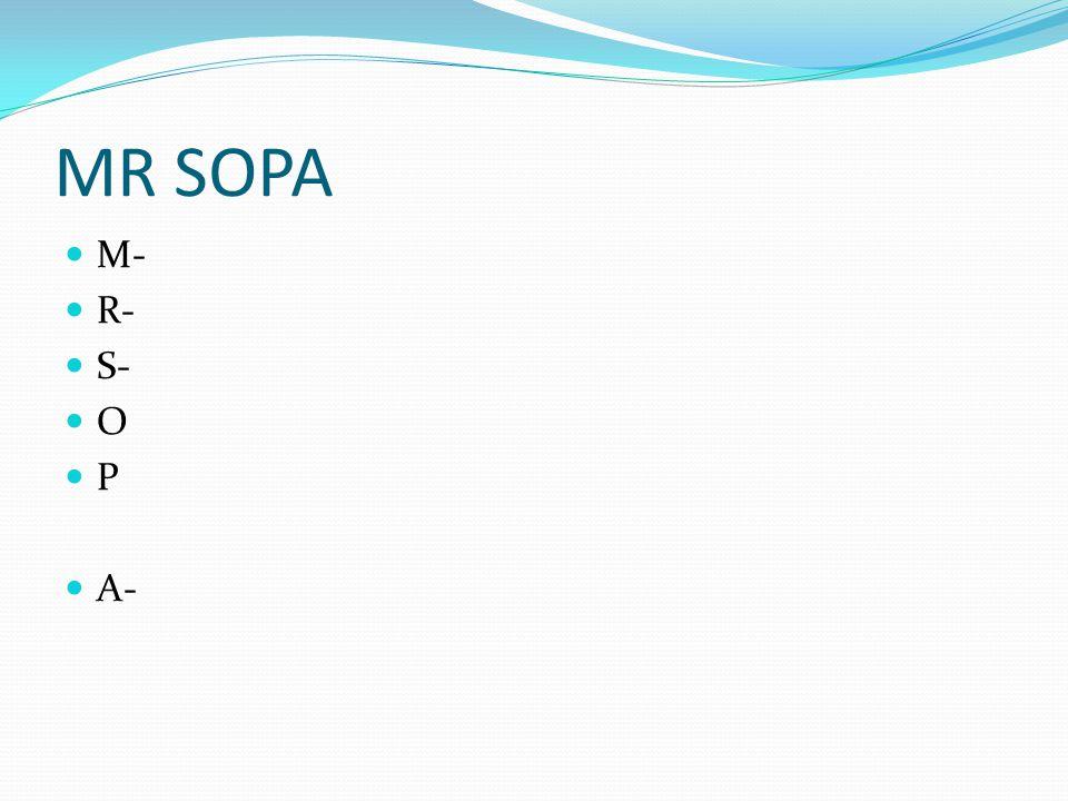 MR SOPA M- R- S- O P A-