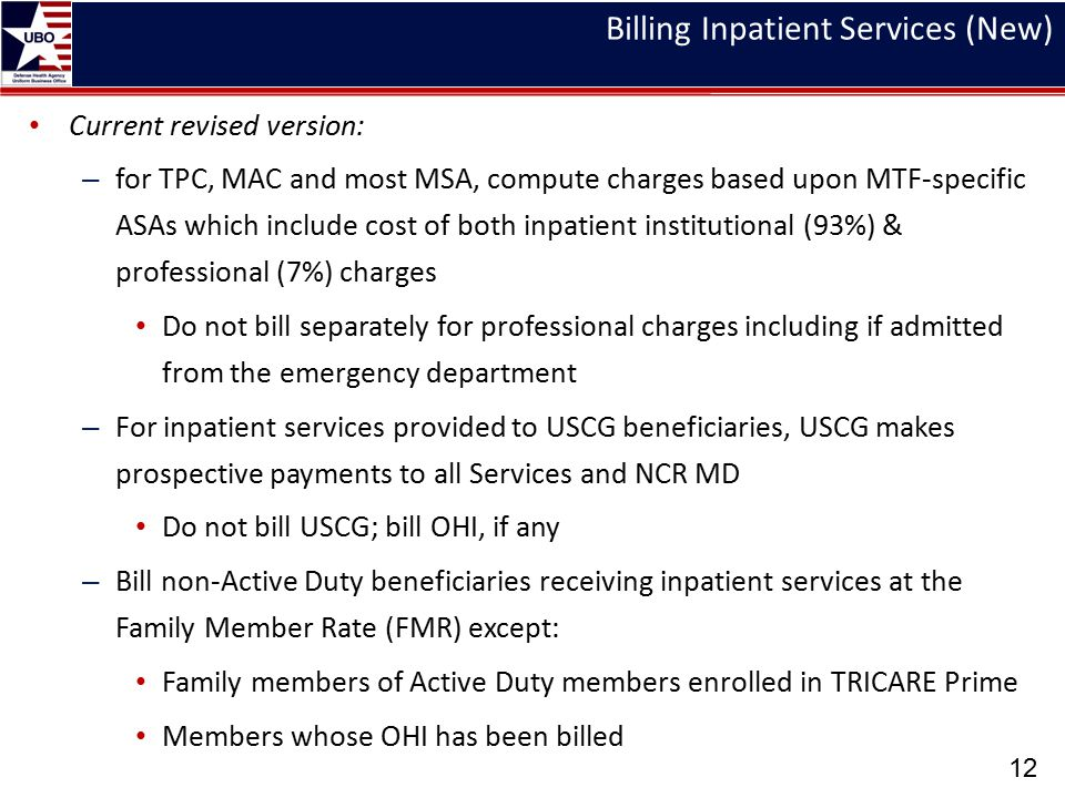 Billing Inpatient Services (New)