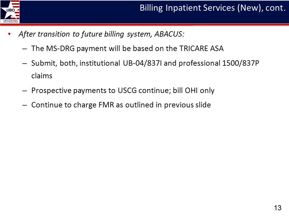 Billing Inpatient Services (New), cont.