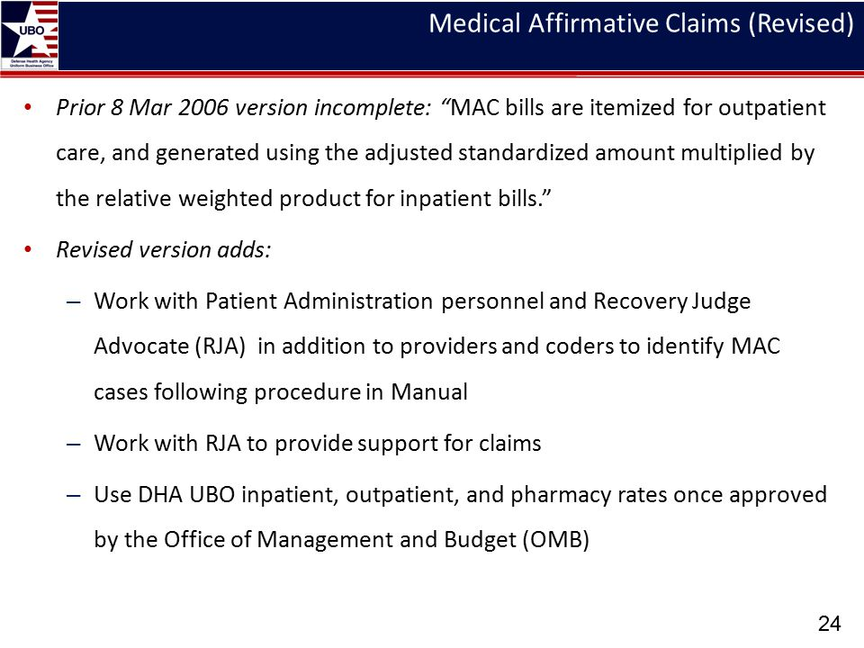 Medical Affirmative Claims (Revised)