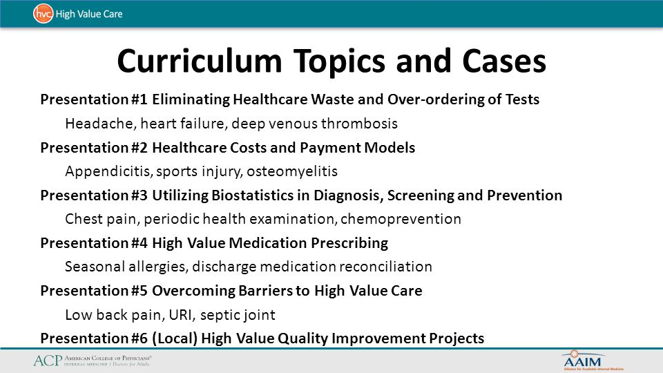 Curriculum Topics and Cases