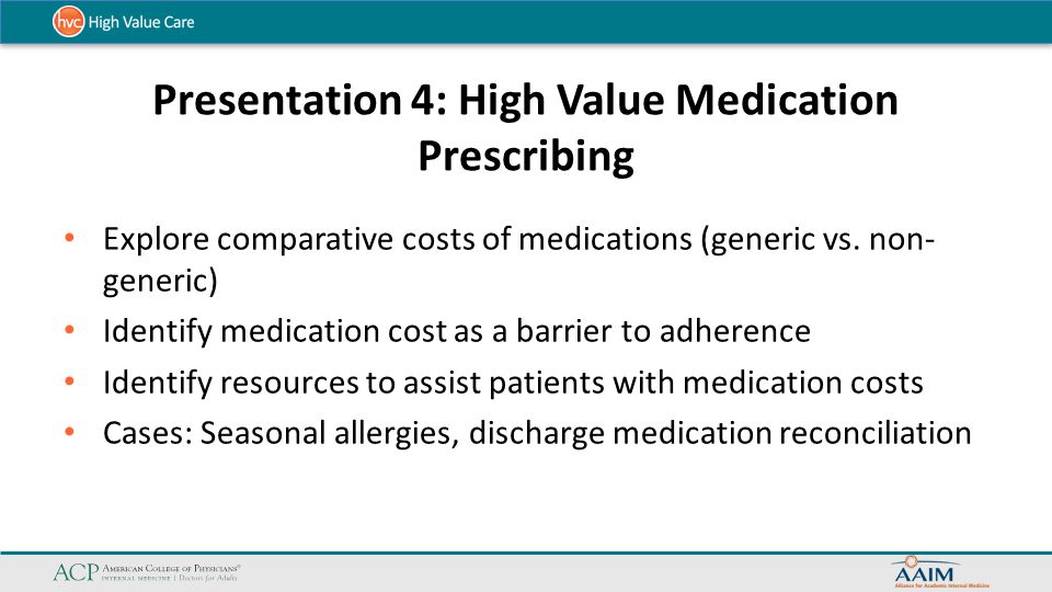 Presentation 4: High Value Medication Prescribing