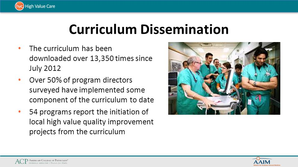 Curriculum Dissemination