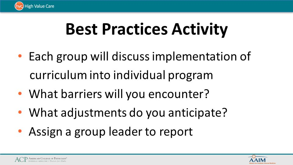 Best Practices Activity