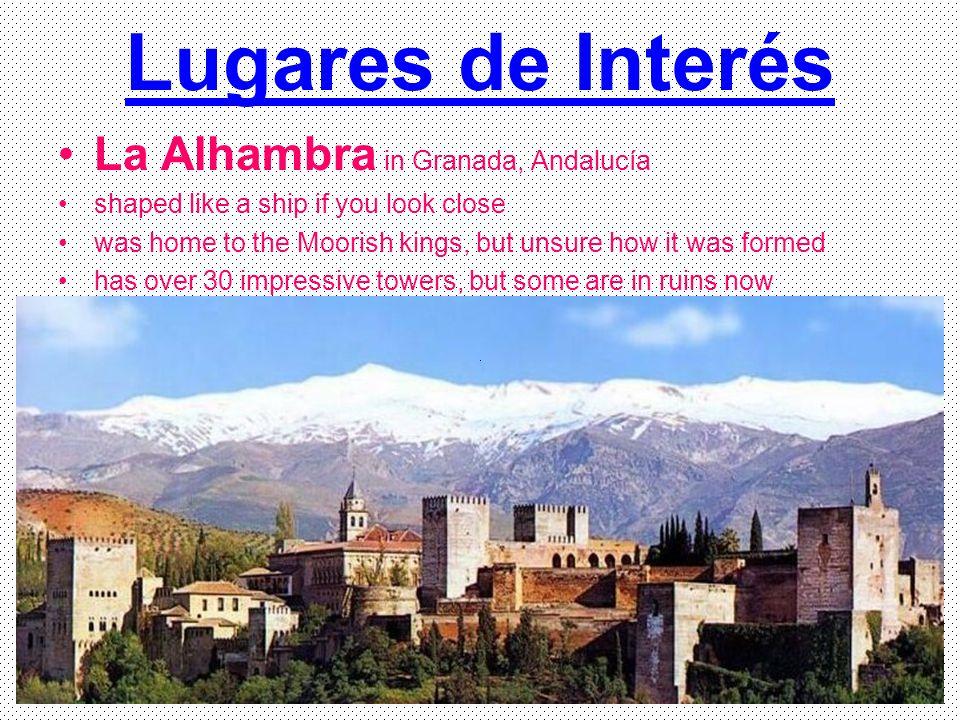 Lugares de Interés La Alhambra in Granada, Andalucía