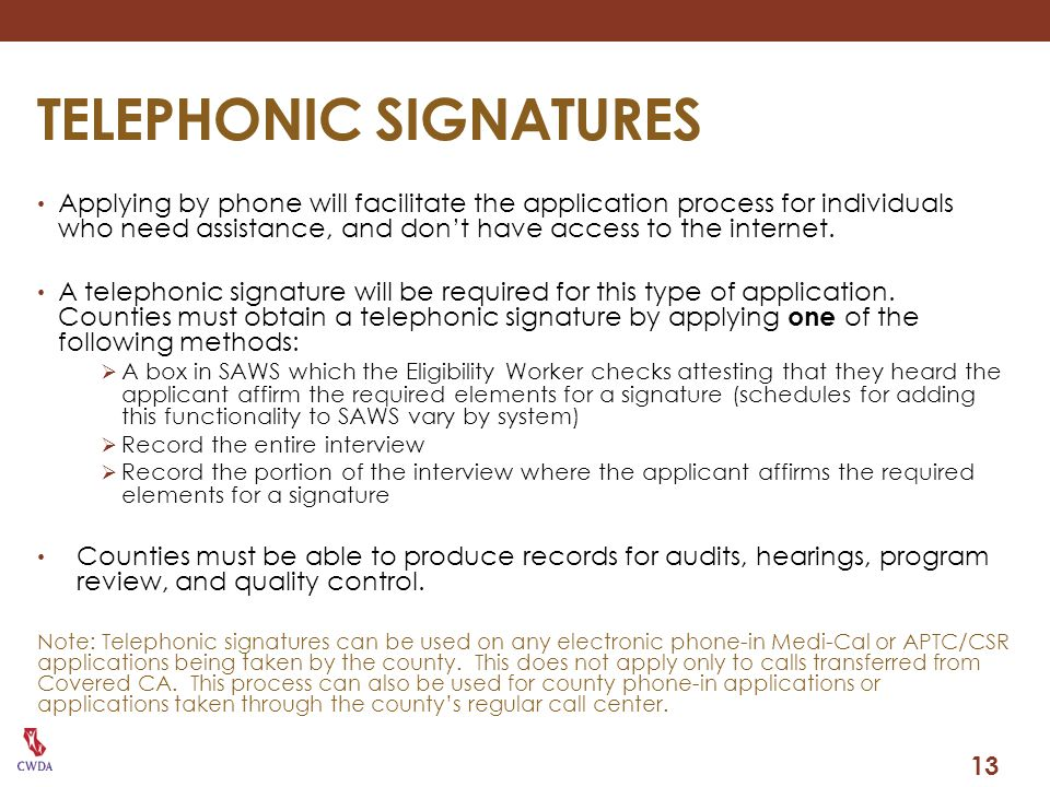 TELEPHONIC SIGNATURES