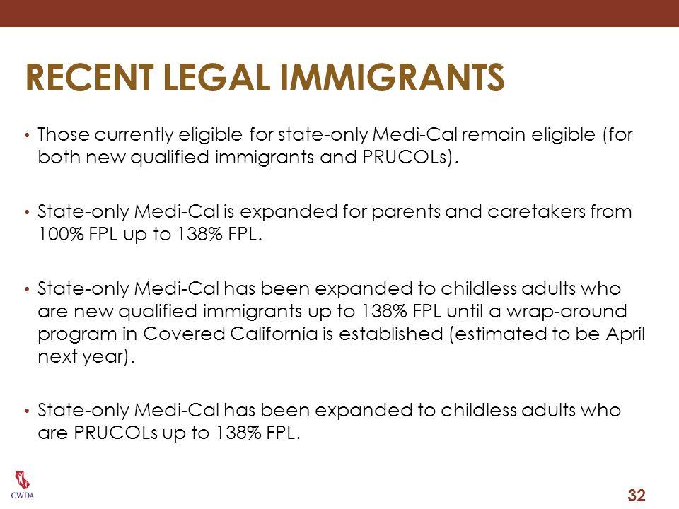 RECENT LEGAL IMMIGRANTS